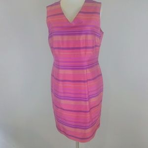 JILLIAN JONES Striped Silk Dress  [Dresses]